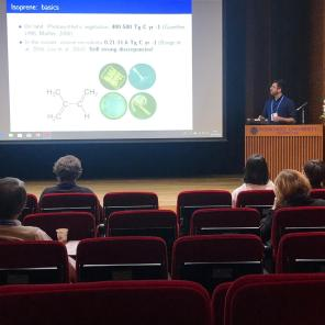 Ecological modeling of the marine biogenic emission of isoprene in the Southern Ocean. Pablo Rodríguez Ros. SOLAS Open Science Conference, Sapporo, Japan. 21-25, April, 2019.